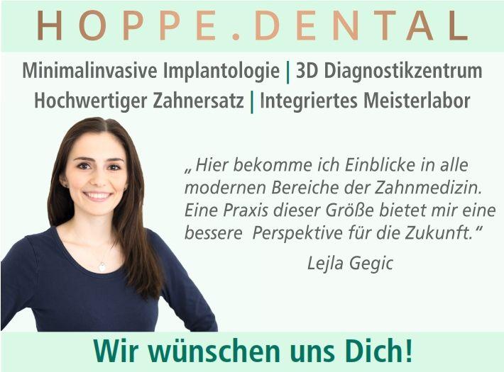 Stellenanzeige Zahnarztpraxis Hoppe.Dental